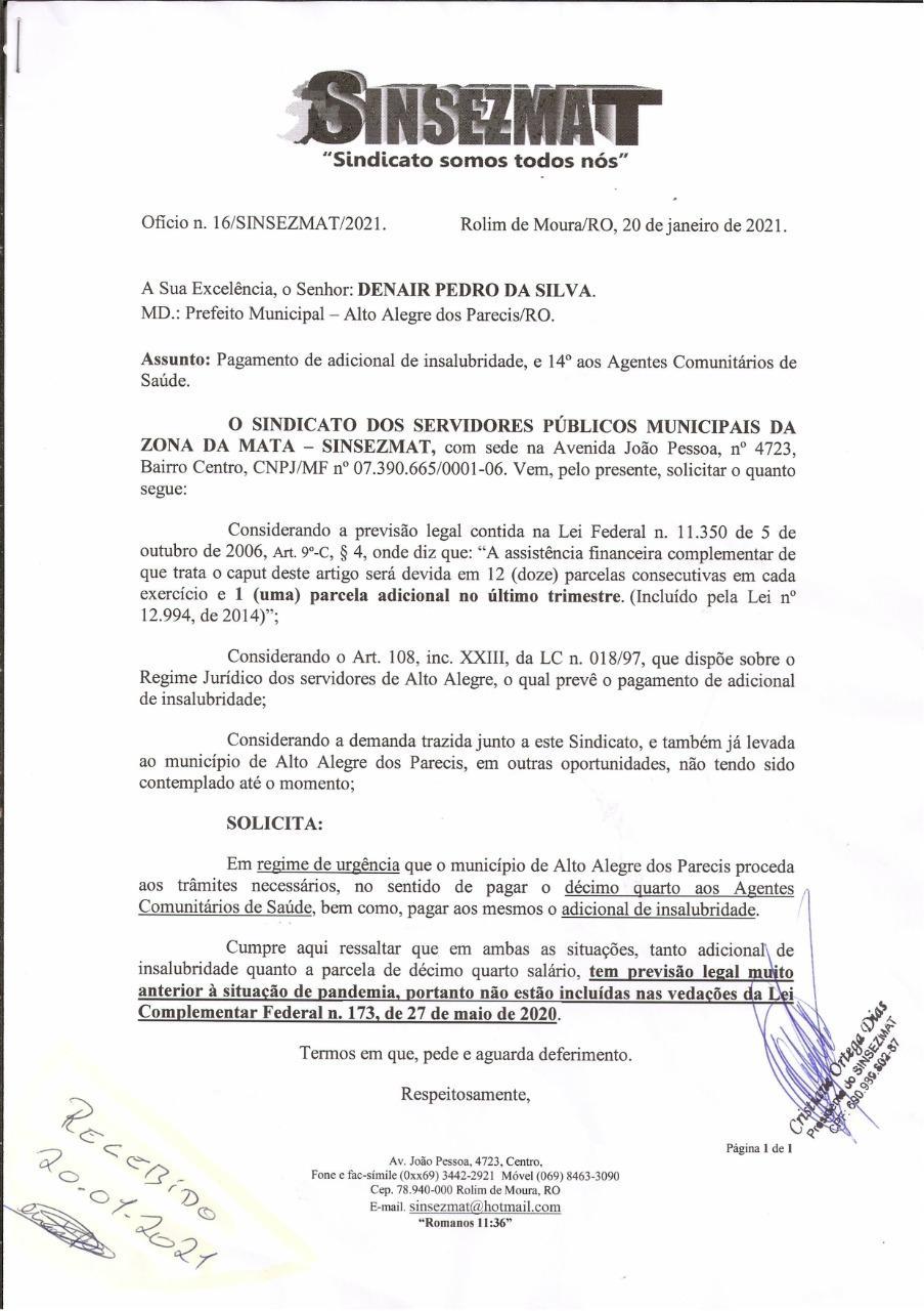 INFORMATIVO  ALTO ALEGRE DOS PARECIS